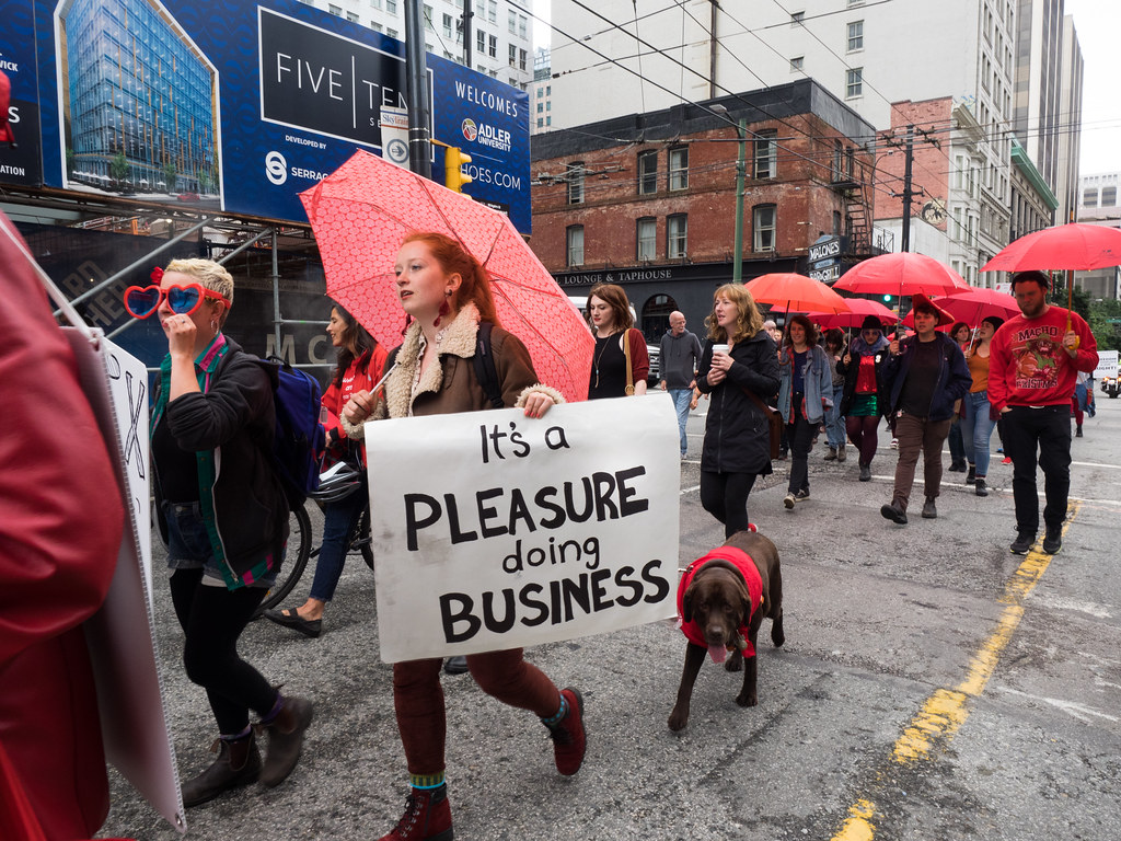 Art march protest sex worker