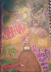 """""""Her pleading eyes """" completed 22/11/15 (Innocence-Is-Forever) Tags: its collage self control time stickers inner tape trust shimmer mists washi posca gelatos"""