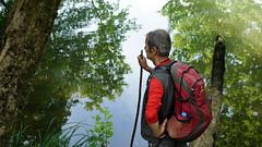 koca deresi (adilekin) Tags: red people reflection tree green forest trekking turkey outdoor hiking istanbul ava gebze kocaeli smcpentaxm28mmf28 pkmount sonya6000