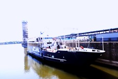 The ferry boat (vinnie saxon) Tags: people ferry river pier boat nikon ship montreal oldport d600 nikoniste