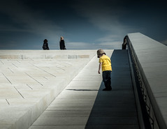 (Svein Nordrum) Tags: blue boy shadow sky people lines yellow oslo architecture opera den explore marble norske balett explored oslooperahouse dennorskeoperaballett