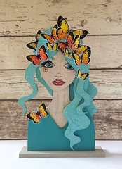 Butterfly beauty- using new #paperbabestamps mdf portrait blanks and #pieridae butterfly set (Kezzie B) Tags: pieridae paperbabestamps