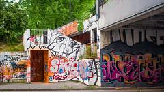 Graffiti NH (dkvelta) Tags: city graffiti district pillar culture nh hh hiphop hip hop krakw cracow centrum kultury nowa nck huta nowohuckie