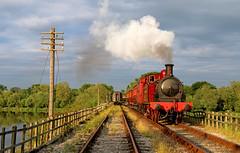 Sunlit Met one (Andrew Edkins) Tags: england geotagged derbyshire victorian reservoir steamtrain preservedrailway butterley midlandrailwaycentre uksteam metone railwayphotography 30742charter