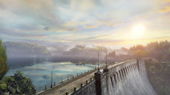 VOEC - 042 (Screenshotgraphy) Tags: sunset sky mountain lake game nature colors architecture clouds contrast montagne landscape pc screenshot lumire couleurs country lac ethan steam gaming ciel beaut carter concept nuages paysage vanishing campagne beautifull jeu naturelle urbain