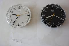 Braun Domo 2  quartz wall clock (revelinyourtime) Tags: blackandwhite white black vintage design time collection braun collector industrialdesign lessismore wanduhr formfollowsfunction germandesign dietrichlubs vintagebraun thanksdieter