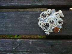 crochet brooch, freeform crochet (natalie_kova) Tags: linen brooch crochet cotton boho freeform seedbeads freeformcrochet bohostyle crochetbrooch linenaccessories