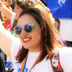 smile (sometimes symbolic) Tags: portrait smile reflections pride lgbt supporting midwives londonpride2006 royalcollegeofmidwives