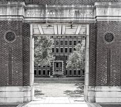 River Walk Arch (JB_Atlanta) Tags: columbus urban bw texture geometric architecture georgia unitedstates columbusgeorgia