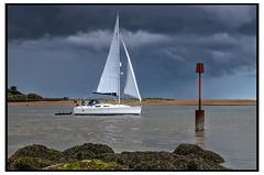 Passing storm (GB Suffolk) Tags: coast suffolk seaside nikon seascapes yacht felixstowe felixstoweferry nikond7000 gbsuffolk garyjbaker