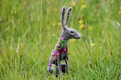 Floral hare (adore62) Tags: felted hare embroidery embroidered needlefelted etsyshop feltedfido embroideredfeltedhare