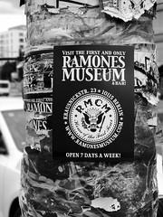 Ramones Museum (michele.tedesco) Tags: street bw white black berlin muro art wall germany strada gallery side spot bn east bianco nero germania pubblicit berlino