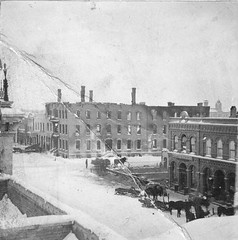 P-5-F-033 (neenahhistoricalsociety) Tags: horses ruins downtown russell fires wagons
