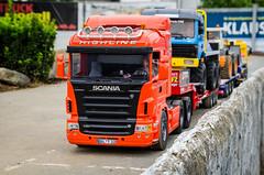 geballte Kraft (-BigM-) Tags: wheel truck germany deutschland mercedes sk tamiya loader cti trial rheinland v8 pfalz 116 koblenz scania 114 bruder lkw liebherr radlader parcour roadworker urmitz r620 goldhofer l574 servonaut