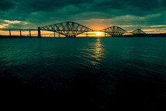 Forth Bridge at Sunset (teltest) Tags: bridge sunset seascape forth forthbridge