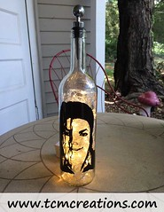 Michael Jackson (TCM Creations) Tags: white home glass lamp bar table michael bottle pub warm jean wine desk bad jackson tavern leds billy tito janet saloon accent thriller jermaine mancave