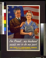 LC-USZC4-5603 Poster (Children's Bureau Centennial) Tags: poster us rosietheriveter flag wwii husband worldwarii 1940s wife libraryofcongress 1944 officeofwarinformation wwiiposter lcuszc45603