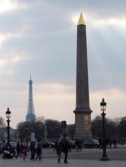 Eiffel Tower & Luxor Obelisk (d_g_d) Tags: paris eiffeltower olympus omd em5