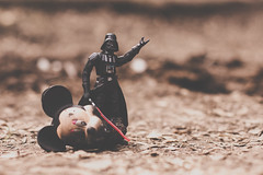 Bye Minnie (Kilkennycat) Tags: canon toys fire starwars 50mm14 burn darthvader pyre deadmouse 500d kilkennycat t1i ryanconners byeminnie screwdisney