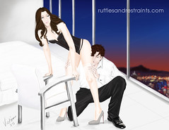 Final Touches (Victoria_RnR) Tags: illustration digital escala fiftyshadesofgrey fiftyshadesdarker anastasiasteele christiangrey