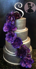 The duchess (Shakar Bakery) Tags: birthday flowers wedding roses cake metal grey engagement purple duchess fondant gumpaste shakarbakery