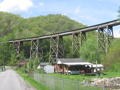 Virginian railroad trestle (Covel, WV) (Andrew T...) Tags: railroad trestle bridge wv westvirginia virginian wyomingcounty 2013 covel