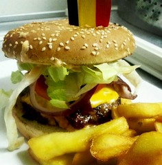 cheeseburger bruxelles ('t Bolleke) Tags: brussels lunch restaurant burger bruxelles cheeseburger hamburger brussel flickrandroidapp:filter=none