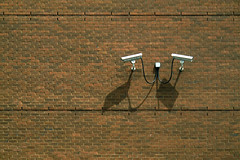 (Torganiel) Tags: camera shadow brick wall montreal minimal 2d g10 torganiel