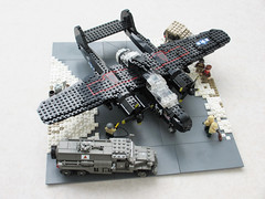 P-61 'Black Widow' diorama, v.2 (1) (Mad physicist) Tags: fighter lego wwii blackwidow diorama usaaf p61 nightfighter