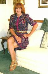 Red/Blue Dress (bobbievnc) Tags: tv highheels dress leg