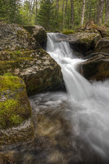 Cascade Brook (Nicolas Doak) Tags: white mountains rock forest canon waterfall moss woods long exposure hiking may tokina elements nd granite appalachian cascade hdr density t3i 4000 neutral filer footers photomatix 1116