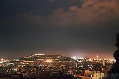 Barcelona's night (Noelia Ruiz Photography) Tags: barcelona light mountain night canon eos lights luces noche n nocturna 500 montaa montjuic 500n 2880