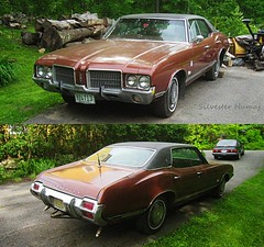 Olds Four Door Hardtop (sixty8panther) Tags: door orange usa classic hardtop car vintage four 1971 cool gm paint muscle antique metallic flake 71 350 restoration rocket trailer needs v8 hitch musclecar olds supreme oldsmobile cutlass cutlasssupreme 1971oldsmobile fourdoorhardtop 71olds classicoldsmbile