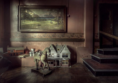 Alone  ( explore ) (andre govia.) Tags: horse house building abandoned hospital dark photo doll dolls child decay best andre creepy horror ward rocking pitcher urbex govia