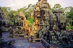 Bayon Temple (iTimbo61) Tags: travel travelling beautiful stone architecture buildings asian temple ancient ruins asia cambodia cambodian buddha stupa buddhist religion buddhism olympus structure tropical angkor om1 watt e500 travelphotography olympuscameras