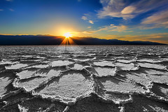 Sunset on the Flats (Dave Toussaint (www.photographersnature.com)) Tags: 4x gnd filter graduatedneutraldensity crust day cloudy crackedearth dry dusk badwater deathvalley nationalpark sky sun sunset wideangle saltflat mojavedesert explore hdr blend layer interesting interestingness cs2 photoshop adobe topazlabs adjust denoise infocus socal southerncalifornia california ca usa nature tripod timer 1022 travel landscape canon 60d photo photographersnaturecom picture photographer 2013 march davetoussaint mygearandme mygearandmepremium mygearandmebronze flickrstruereflection5 flickrstruereflection6 mygearandmesilver flickrstruereflection2 mygearandmegold flickrstruereflection3