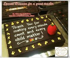 Brownies Apple for a great teacher (Crysta's Cakes) Tags: apple for great teacher brownies alphabets
