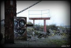 MR Zero (annar_50) Tags: streetart art abandoned graffiti ship urbandecay ghost rusty urbanart weathered flintshire urbex northwales mostyn dukeoflancaster mrzero blackdukefiles