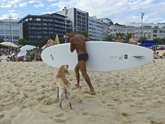 I want more !.... Surf-tech (alobos Life) Tags: boy brazil dog pet cute praia beach rio brasil de fun happy surf janeiro body candid garoto playa perro enjoy brazilian alegria chico speedo mascota sunga surftech