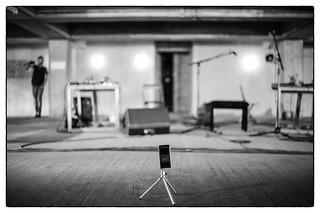 LCMF 2013 Ma La Pert (Tony Conrad & Jennifer Walshe) soundcheck - Tony Conrad's video recorder @ Peckham Car Park, London, 28th July 2013