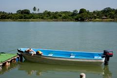 Ana Elena (peterhaupt) Tags: boy reflection water mxico ro river boat kid agua ngc mam mother reflejo veracruz nio waterreflection bote tuxpan embarcacin reflejoagua