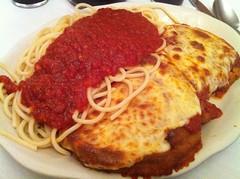 Villa di Roma (htomren) Tags: food eggplant pasta spaghetti phonepics italianfood staycation staycation2013