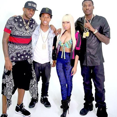 Meek Mill Ft. Fabolous, French Montana & Nicki Minaj – I Be On That video shoot