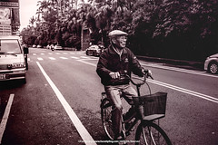Vintage Roads    (francisling) Tags: road old white man black zeiss 35mm vintage t bicycling photo asia sony taiwan cybershot east yilan     on sonnar  rx1    dscrx1