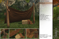 Sway's Cozy Tent [Shelter] pumpkin (Sway Dench / Sway's) Tags: autumn relax couple tent secondlife hay shelter sways