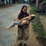 11 Feb 1968, Hue - South Vietnamese Woman Carrying Her Wounded Son - Image by © Bettmann/CORBIS thumbnail
