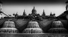 Barcelona (Jayhopephotography) Tags: barcelona blackandwhite spain es fountains espania jayphotographycom