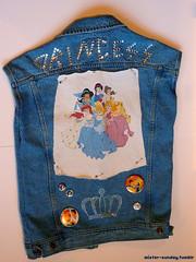 My PRINCESS PUNK vest (Back) (Mr_Sunday) Tags: fashion costume punk buttons pins denim vest disneyprincess