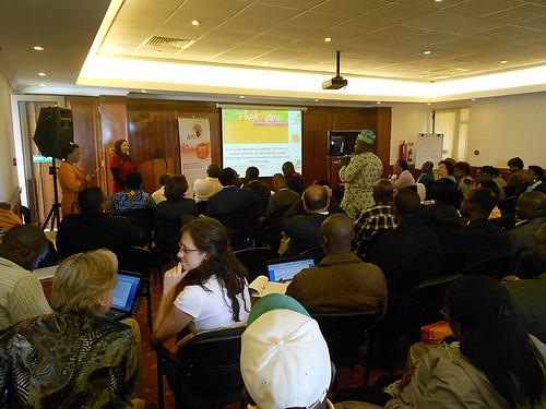 group at African Potato Association Triennial meetings, Naivasha