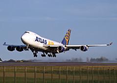 N408MC Boeing 747-47UF Atlas Air (Keith B Pics) Tags: boeing 747 ostend mse manston 744 atlasair n408mc acp2601